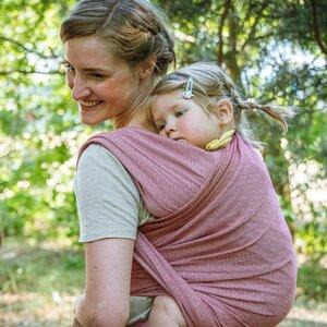 """Veganes Babytragetuch """"Ruby"""" 100% Bio-Baumwolle - Mama Nuka– Dein Babytragetuch"""