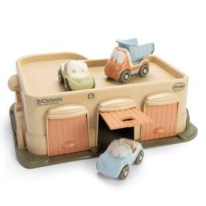 BIO Parkhaus mit 3 Autos, Geschenkbox für Kinder - Mitienda Shop