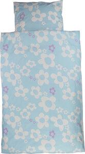 Kinder-Bettwäsche blume blau - ingegerd
