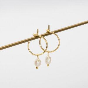 Creole 'gemstone hoop' - fejn jewelry