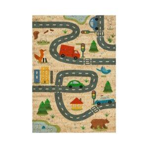 Korkteppich Spielteppich eckig The Road - Corkando-KIDS