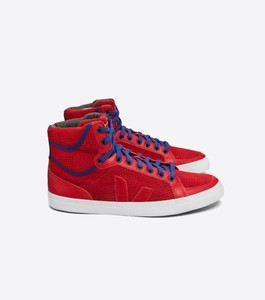 Schuh SPMA PERFORATED SUEDE LONDON RED - Veja