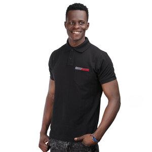 Herren Poloshirt Kitenge Fusion mit Brusttasche - Africulture