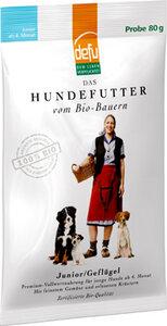 defu Bio-Hundefutter Junior Geflügel - defu - dem Leben verpflichtet