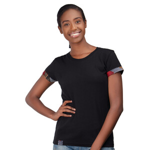 "T-Shirt, Ladys Cut ""Kitenge Fusion"" - Africulture"