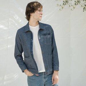 Recycelte Jacke aus Denim-Baumwolle - Ernesto - Rifò - Circular Fashion