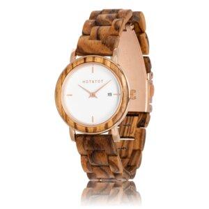 Armbanduhr aus Holz | Damen EOS Zebrano-holz | 32 mm | handgemacht | vegan - HOT&TOT