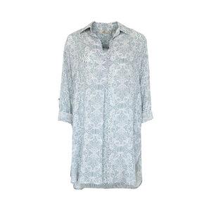MONIQUE PAISLEY - Damen - leichtes Blusen/Hemdkleid - Weiß - Jaya
