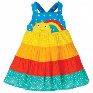 Frugi Trägerkleid sun dress rainbow Regenbogen - Frugi