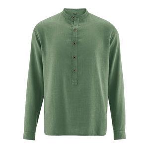 HempAge Herren Stehkragenhemd Bio-Baumwolle/Hanf - HempAge
