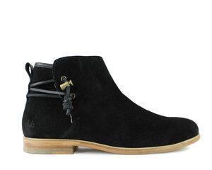 Schuh rosewood / schwarzes wildleder / ledersohle - ekn footwear
