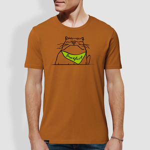 "Herren T-Shirt, ""Breakfast"", Roasted Orange - little kiwi"