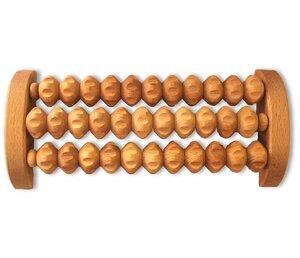 Fussmassage aus Holz mit drei Metallachsen - Biodora