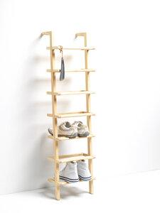 SCHUHREGAL LADY LONG / Shoe Rack  Esche massiv - Side by Side