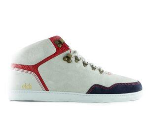 Sneaker high seed / weißes wildleder / weiße sohle - ekn footwear