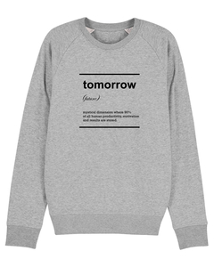 "Herren Sweatshirt aus Bio-Baumwolle ""Tomorrow"" - University of Soul"