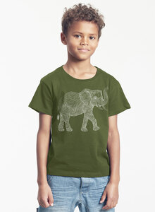 "Bio-Kinder T-Shirt ""Babyelefant"" - Peaces.bio - Neutral® - handbedruckt"