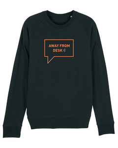"Herren Sweatshirt aus Bio-Baumwolle ""Away from desk"" - University of Soul"