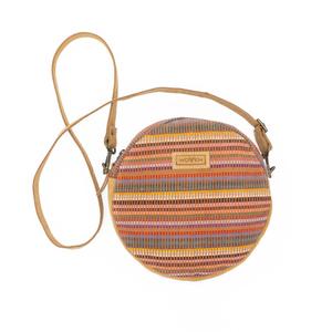 """Damen Tasche Umhängetasche Rundtasche """"Woven Lea Round Side Bag"""" multicolor rund - Woven"""