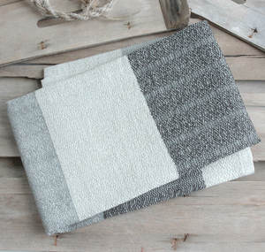 Handgewebtes Leinenhandtuch, Leinenhandtücher von tuchmacherin, gestreift - tuchmacherin - handgewebtes design + filz