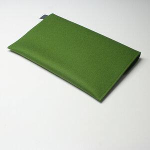 Notebook-Tasche Filz 13'' von tuchmacherin, Laptophülle Filz, grün - tuchmacherin - handgewebtes design + filz