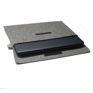 Notebook-Tasche Filz 15'' von tuchmacherin, graubraun-meliert - tuchmacherin - handgewebtes design + filz
