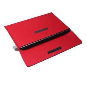 Notebooktasche Filz 15'' von tuchmacherin, Laptophülle 15 '', rot - tuchmacherin - handgewebtes design + filz