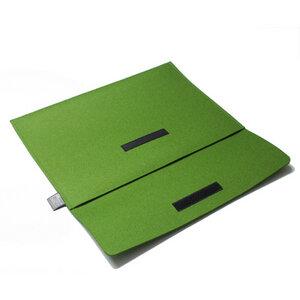 Notebook-Tasche Filz 15'' von tuchmacherin, Laptophüllen, grün - tuchmacherin - handgewebtes design + filz