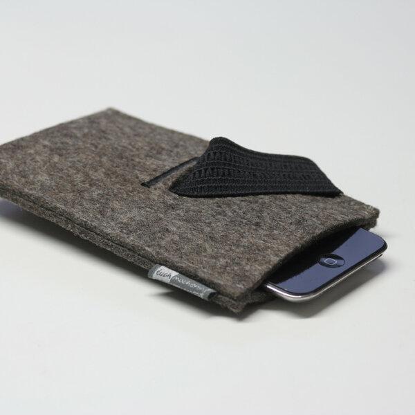 tuchmacherin handgewebtes design filz handyh lle filz smartphone h lle filzh lle handy. Black Bedroom Furniture Sets. Home Design Ideas
