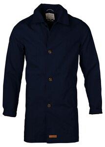 Mantel Car Coat Organic Cotton Total Eclipse - KnowledgeCotton Apparel