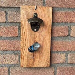 Flaschenöffner mit Magnet aus Olivenholz - Mitienda Shop