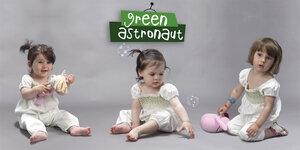 Jumpsuit - Elfenbeinweiss 100% Bio Baumwolle - green astronaut