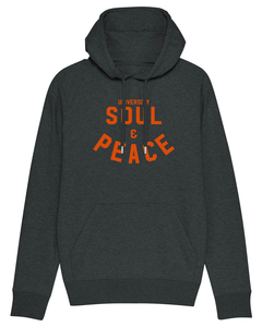 "Herren Hoodie aus Bio-Baumwolle ""Soul and Peace"" - University of Soul"
