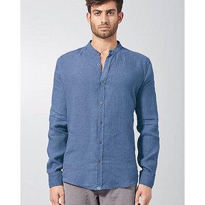 HempAge Herren Schlichtes Stehkragenhemd aus reinem Hanf - HempAge