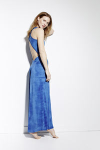 CROSSED BACK DRESS INDIGO - Hati-Hati