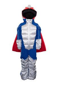 Kinder Scheeanzug aus recyceltem Polyester POWDO Commander blau-silber - WeeDo