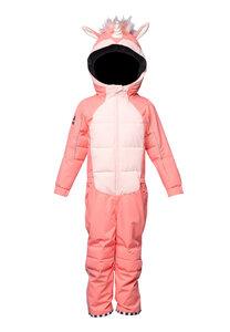Kinder Scheeanzug aus recyceltem Polyester UNIDO Einhorn rosa - WeeDo