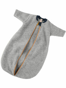 Engel Natur Baby Fleece-Schlafsack mit Arm aus reiner Bio-Wolle - Engel natur
