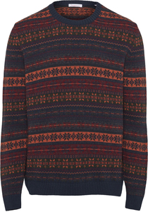 Strickpullover - VALLEY multi color jacquard - GOTS - KnowledgeCotton Apparel