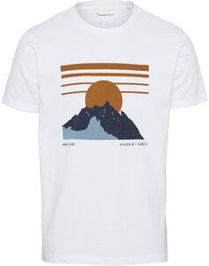 T-Shirt - ALDER heavy mountain print - KnowledgeCotton Apparel