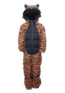 Kinder Scheeanzug aus recyceltem Polyester TIGERDO Tiger braun - WeeDo