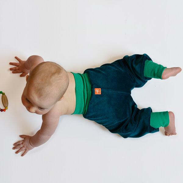 Nickihose Für Babys Petrol/smaragdgrün
