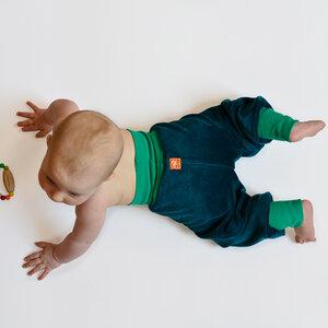 Nickihose für Babys petrol/smaragdgrün - Cmig