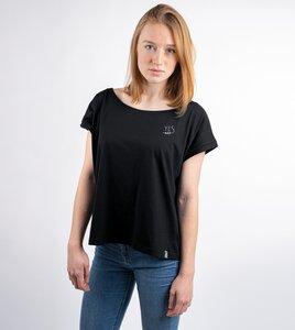 Schwarzes Cropped Shirt Yes aus Biobaumwolle - Gary Mash