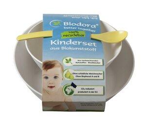 Kinderset mit Schale/Teller und Löffel - Biodora