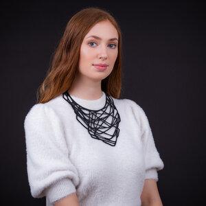 Orion handgefertigte Halskette aus recyceltem Reifenschlauch - SAPU