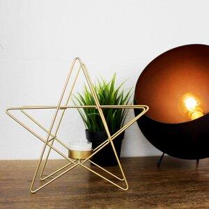 Teelichthalter aus Metall Star - Mitienda Shop