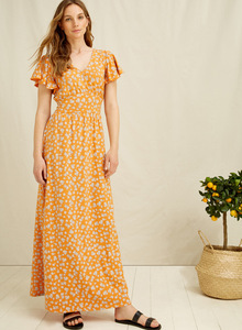 Blumen Kleid - Morgan Blossom Print Maxi Dress - People Tree