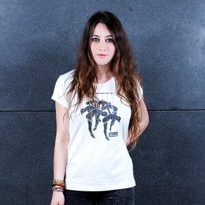 Human Sale - Frauenshirt mit Print aus Biobaumwolle - Coromandel