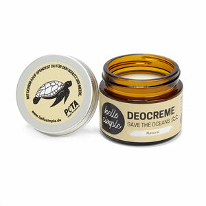 Deocreme - Save the Oceans, Natural - zertifizierte Naturkosmetik - Hello Simple